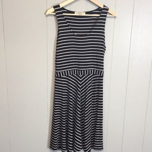 LOFT Striped Stretch Dress Size Small